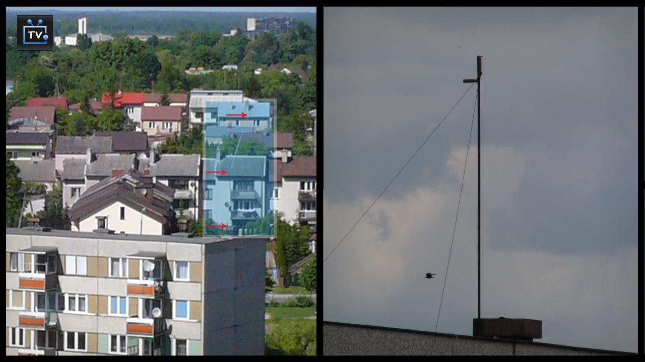 Urwana antena.